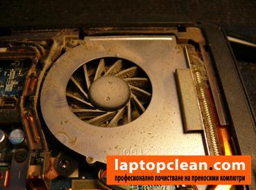 Замърсен лаптоп