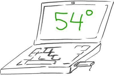 Почистен лаптоп